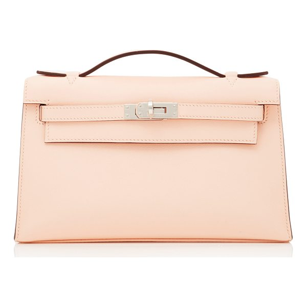 HERITAGE AUCTIONS SPECIAL COLLECTIONS Hermes Rose Eglantine Swift Leather Kelly Pochette - This Hermes Kelly Pochette brought to you by *Heritage...