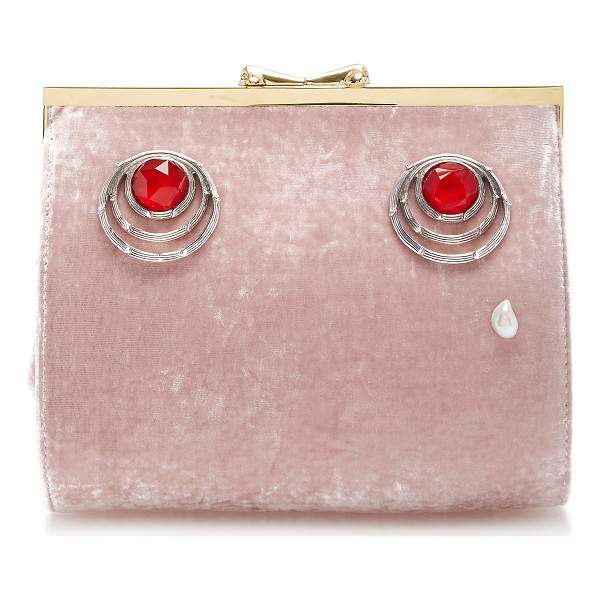 INES FIGAREDO Charisma Lady Clutch - This *Ines Figaredo* bag is rendered in silk velvet and