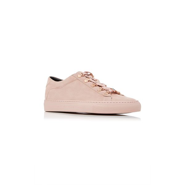 KOIO JonBoy Pink Sneaker - This *Koio* sneaker is rendered in leather and features...