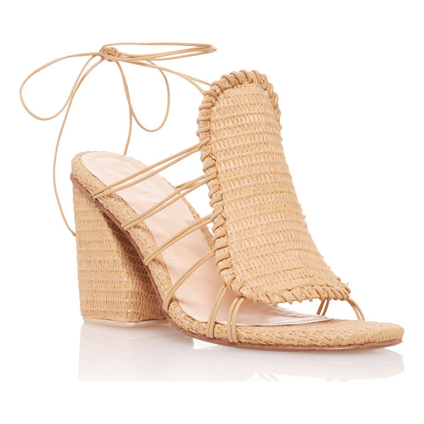 MARCELA B. Asymmetric Heeled Sandal - This *Marcela B* sandal is rendered in nylon and features...