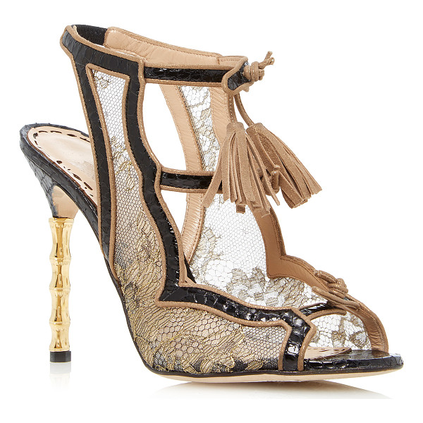 MARCHESA Addilyn Sandal - This *Marchesa* Addilyn sandal is rendered in lace and...