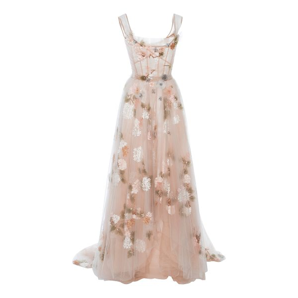 MARCHESA Off The Shoulder Tulle Gown - This *Marchesa* gown features an off-the-shoulder neckline...