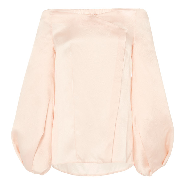 MARINA MOSCONE Silk Off-Shoulder Blouse - Rendered in silk this *Marina Moscone* top features an...