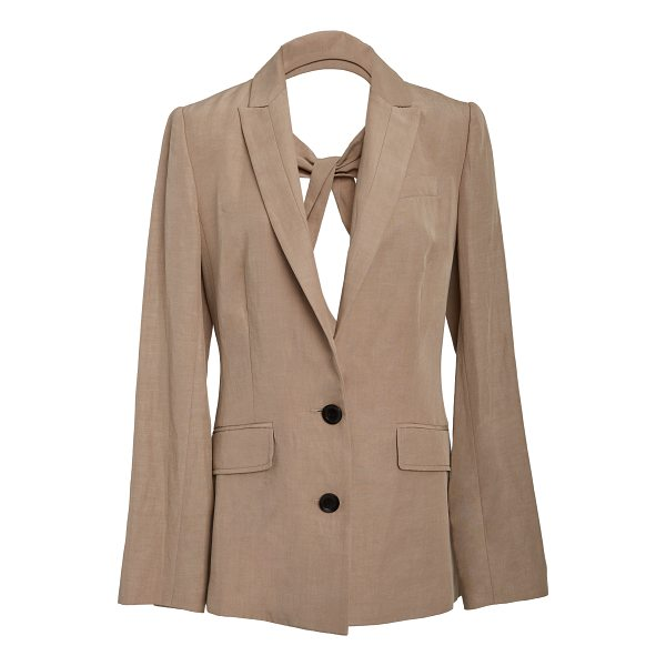MARISSA WEBB Ana Open Back Blazer - This *Marissa Webb* Ana Open Back Blazer features a classic...