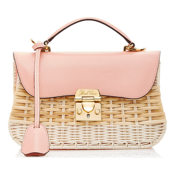 MARK CROSS Rattan Dorothy Bag - This *Mark Cross* 'Dorothy' bag is rendered in rattan and...