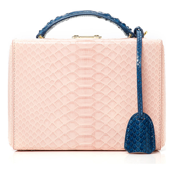 MARK CROSS X CHELSEA LEYLAND Python Chelsea Leyland Exclusive Small Grace Box - This *Mark Cross* Grace bag is brought to you by Chelsea...