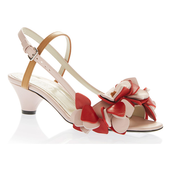 MARNI Ruffle Sandal - This *Marni* sandal is rendered in leather and features a...