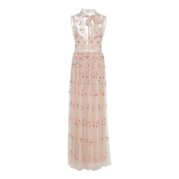 NEEDLE & THREAD Embellished Tulle Gown - Needle & Thread is loved for its fresh take on embellished...
