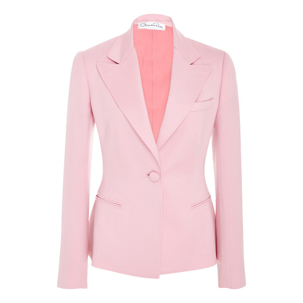 OSCAR DE LA RENTA Notch Collar Jacket - This *Oscar de la Renta* jacket features a notch collar...