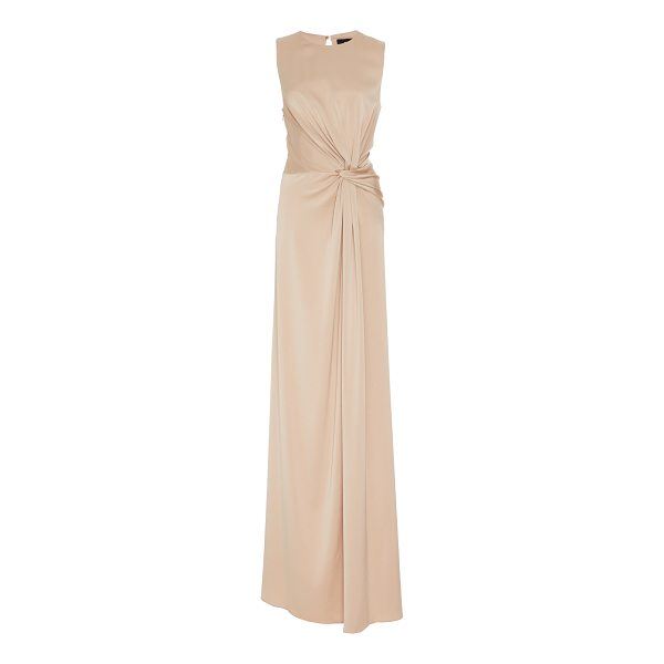PAULE KA Crepe Backed Satin Knot Gown - This *Paule Ka* Crepe Backed Satin Knot Gown features a...