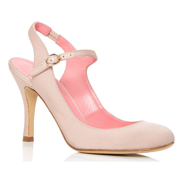 PAULE KA Nude Mary Jane Pumps - These *Paule Ka* pumps are rendered in acetate viscose and...