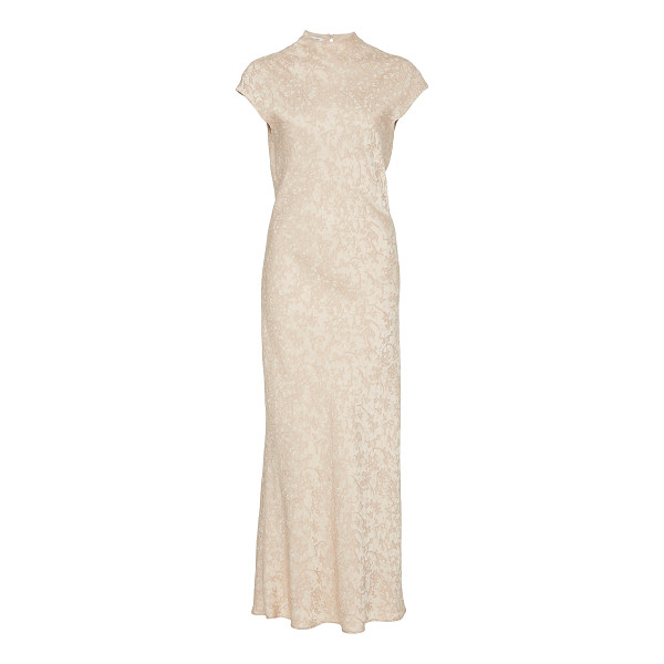 PROTAGONIST Cap Sleeve Bias Dress - This *Protagonist* dress features a mock neck and a sheath...