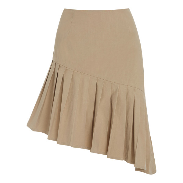 SEA Pleated Asymmetrical Skirt - This skirt by Sea features pleats along an asymmetrical...