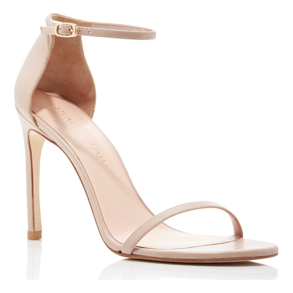 STUART WEITZMAN Nudist Song Sandals - These *Stuart Weitzman* sandals are rendered in beige