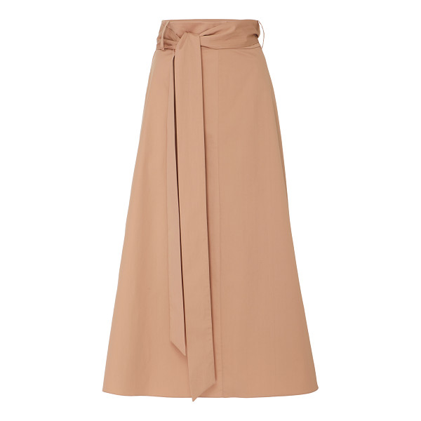 TIBI Cotton Midi Skirt - Tibi's skirt is crafted from structured cotton that holds...
