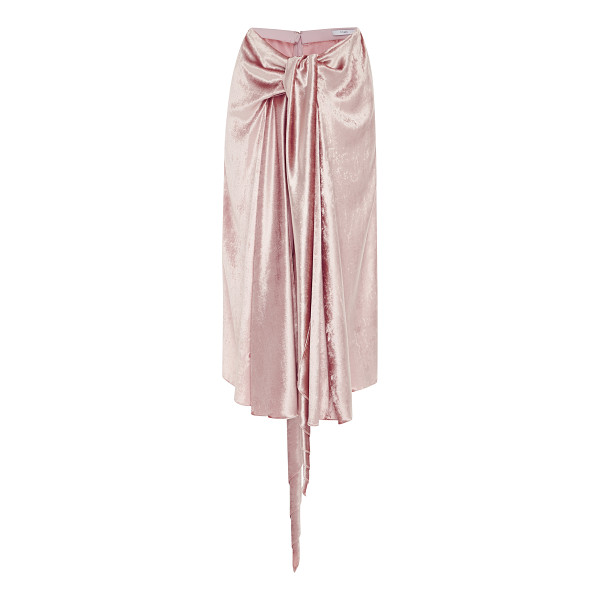 TOME Bow Front Skirt - This *Tome* bow front skirt features a draped tie front and...