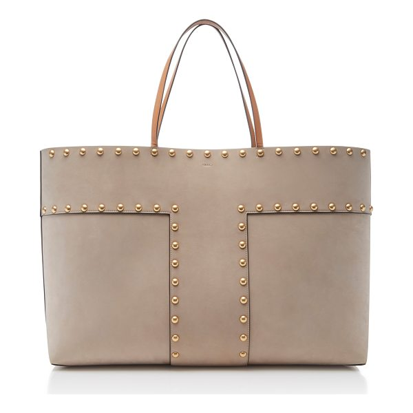 TORY BURCH Block T-Stud Tote - This *Tory Burch* block t-stud tote is rendered in cow...