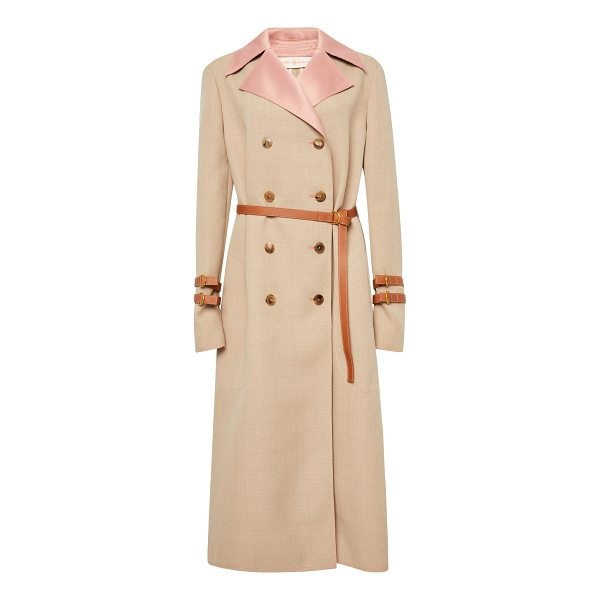 TORY BURCH Farrah Belted Coat - This *Tory Burch* Farrah Belted Coat features a satin lined...