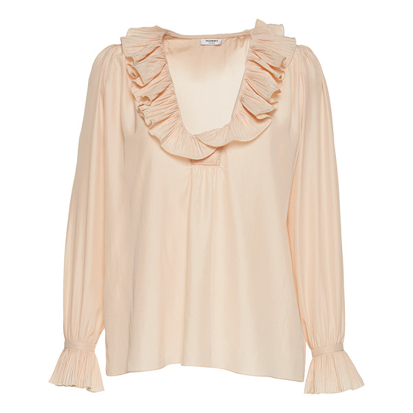 VILSHENKO The Molly Pleated Blouse - Rendered in silk this *Vilshenko* top features ruffle...