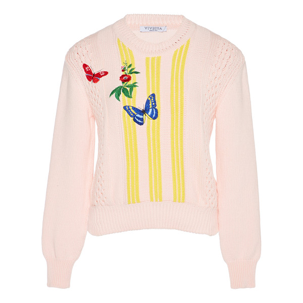 VIVETTA Bussola Embroidered Sweater - This *Vivetta* Bussola Embroidered Sweater features a...