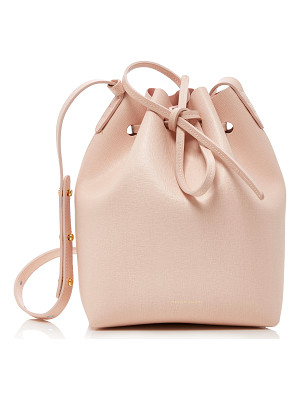 MANSUR GAVRIEL Mini Bucket Pink Leather Bag