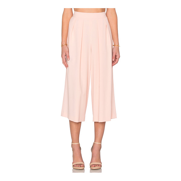 1. STATE Crepe Culottes - Poly blend. Dry clean only. Pleated waist. Side seam...