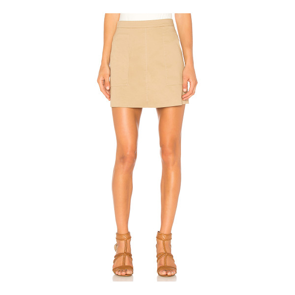 """1. STATE Patch Pocket A-Line Skirt - """"Self: 98% cotton 2% elastaneLining: 100% cotton. Unlined...."""