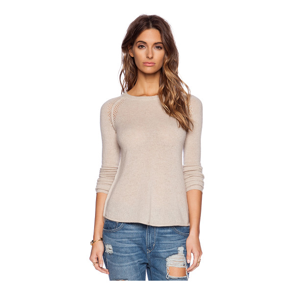 27 MILES MALIBU Annabella sweater - 100% cashmere. Hand wash cold. Thumbhole cut-outs....