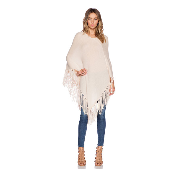 360SWEATER Blanca poncho - 100% cashmere. Dry clean only. Fringe trim. 360S-WK267....