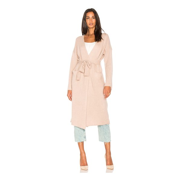 360SWEATER Kris Long Cardigan - 100% cashmere. Dry clean only. Open front. Side pockets....