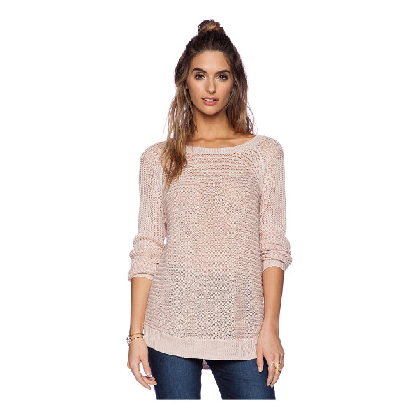 360SWEATER Rea sweater - 100% linen. Hand wash cold. Rib knit edges. 360S-WK259....