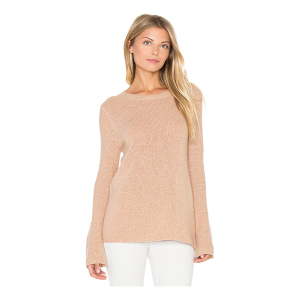 360SWEATER Selene Bell Sleeve Sweater - 100% cashmere. Dry clean only. Rib knit edges. 360S-WK392....