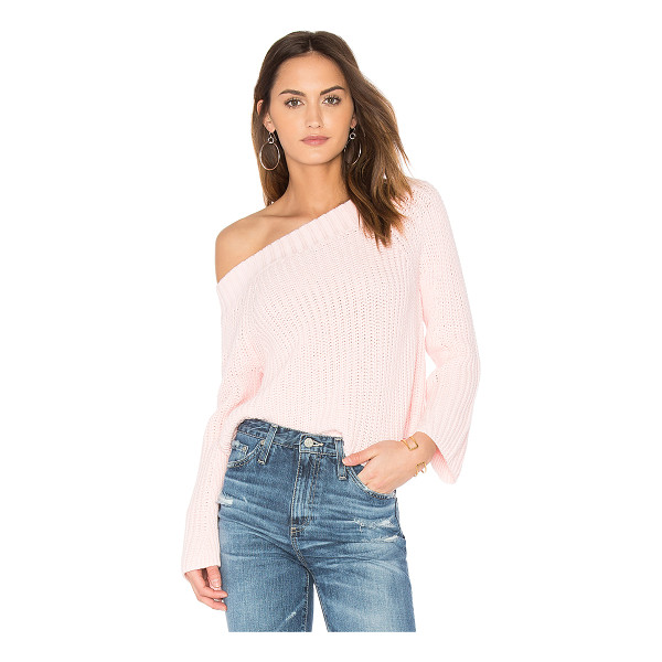 525 AMERICA Off Shoulder Sweater - 100% cotton. Hand wash cold. Ribbed trim. 525A-WK162....