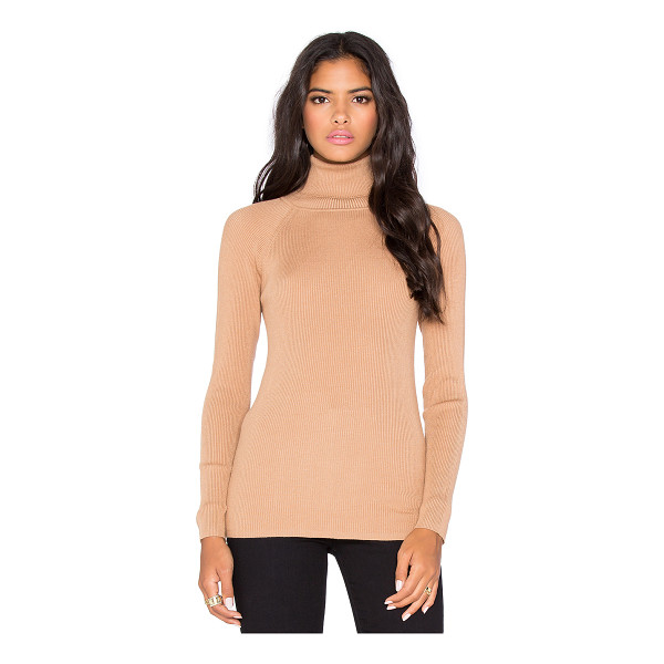 525 AMERICA Solid rib turtleneck sweater - 80% rayon 20% nylon. Hand wash cold. Rib knit. 525A-WK68....
