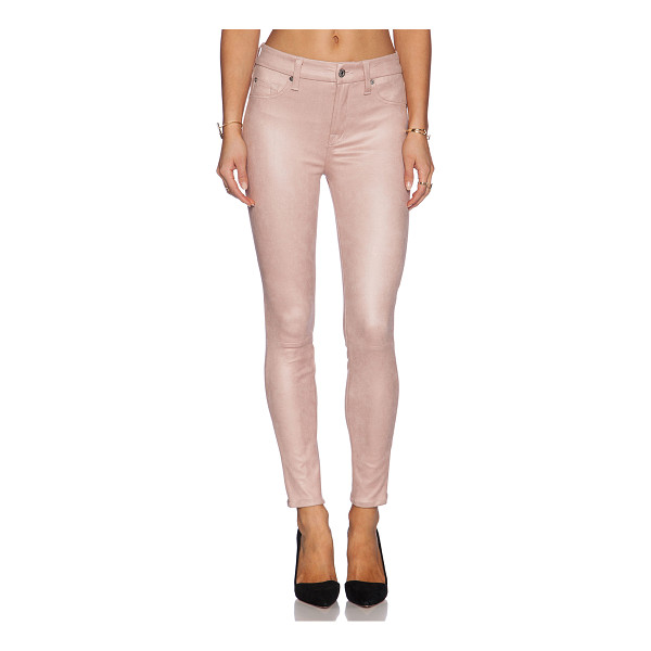 "7 FOR ALL MANKIND Knee seem skinny - 90% poly 10% spandex. 12"""" in the knee narrows to 10"""" at..."