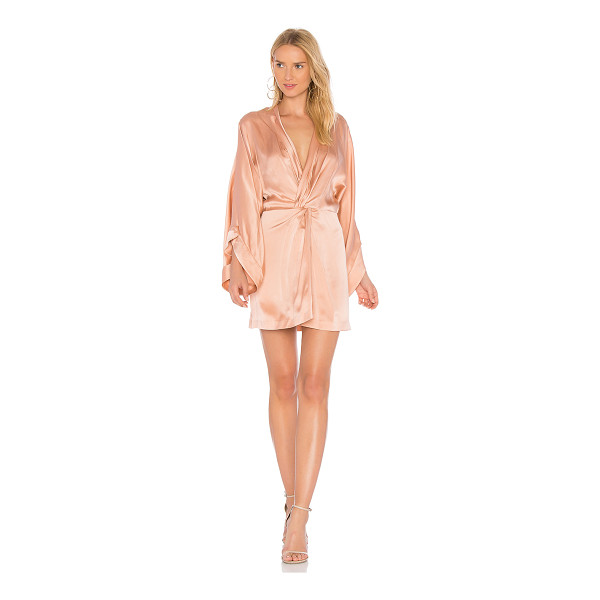 ACLER Eden Silk Dress - Silk blend. Dry clean only. Unlined. Twisted front detail....