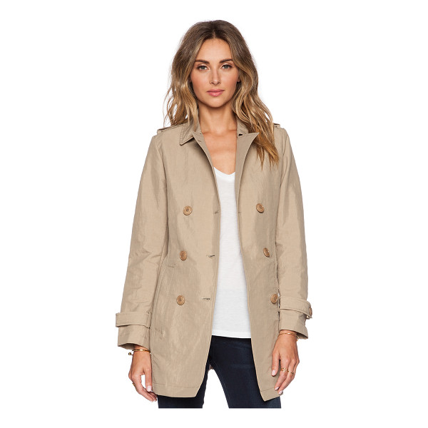 ADD Unlined trench - 52% polyamide 48% cotton. Double breasted front button...