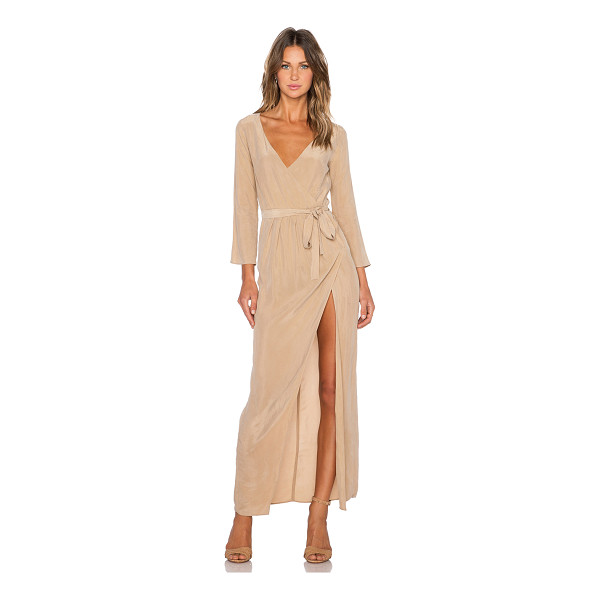 AGAIN Bianca dress - Poly blend. Dry clean only. Unlined. Side seam slit. Waist...