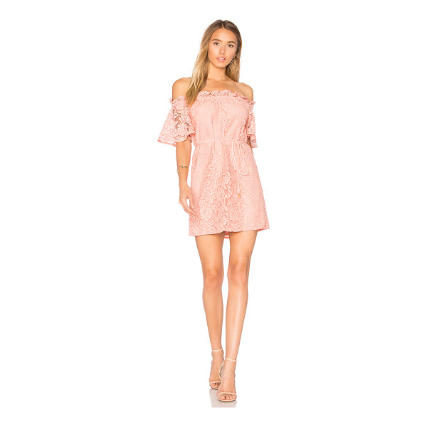 AIJEK Padova Off Shoulder Dress - 100% poly. Dry clean only. Fully lined. Elasticized...