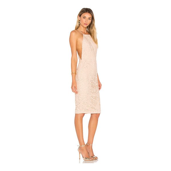 AIRLIE Isolla Dress - 92.5% poly 7.5% spandex. Hand wash cold. Fully lined....