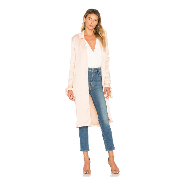 AIRLIE Paris Trench - 100% poly. Hand wash cold. Open front. Side welt pockets....