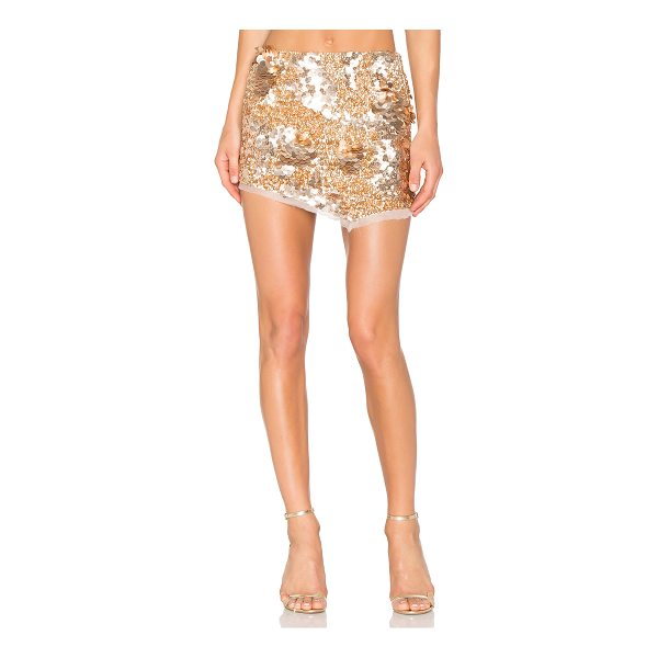 AJE Jaws Sequin Mini Skirt - Poly blend. Dry clean only. Unlined. Sequined throughout....