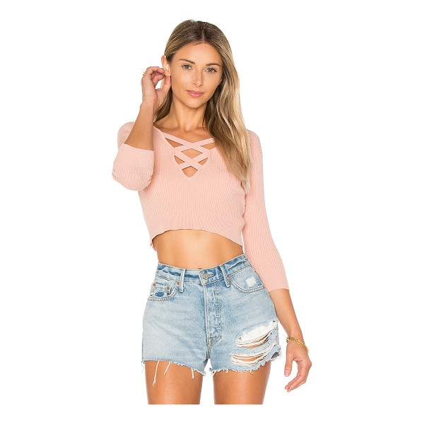 ALE BY ALESSANDRA x REVOLVE Leona Cropped Sweater - Your new snuggle buddy. Designed in a soft knit fabric, The...