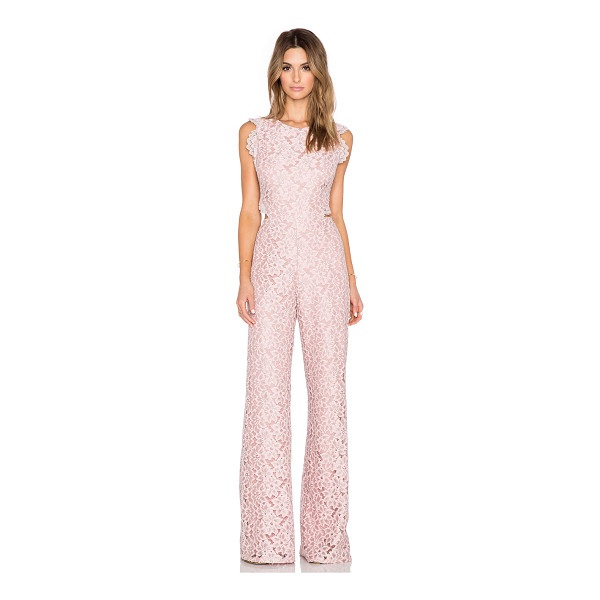 ALEXIS Livia lace jumpsuit - Self: 63.4% nylon 36.6% polyLining: 100% poly. Dry clean...