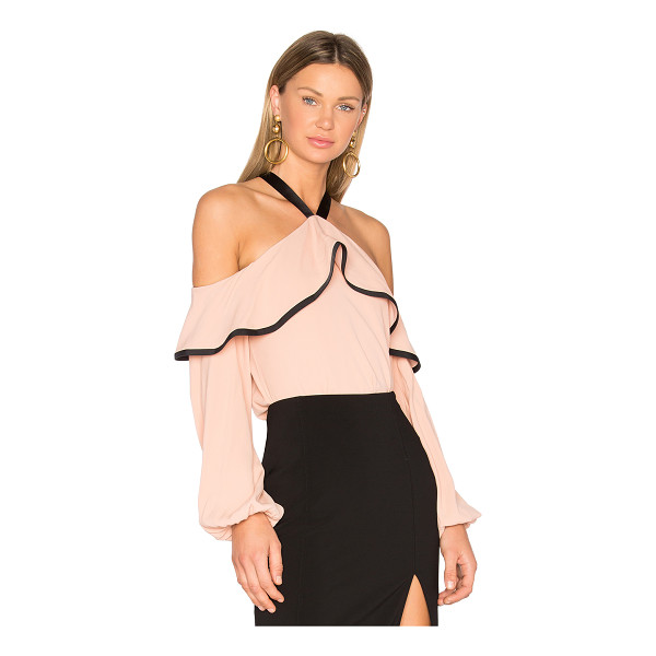 ALEXIS Malia Top - A ruffled overlay top frames cold shoulders for the...