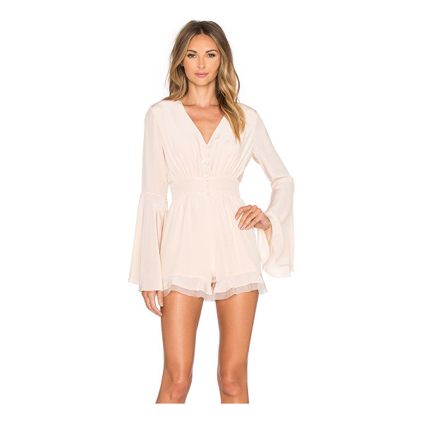 ALEXIS Martine Romper - Self: 100% polyCombo: 100% silk. Dry clean only. Partial...
