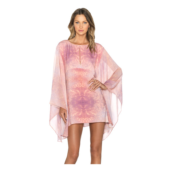 ALEXIS Yves caftan - 100% poly. Dry clean only. Front keyhole detail. AXIS-WD86....