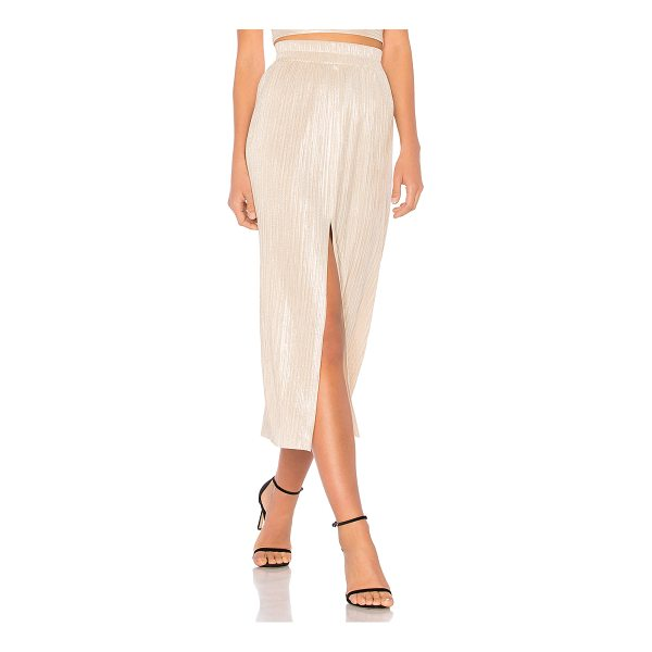 "ALICE MCCALL Come With Me Skirt - ""85% poly 15% metal. Dry clean only. Elasticized waist...."