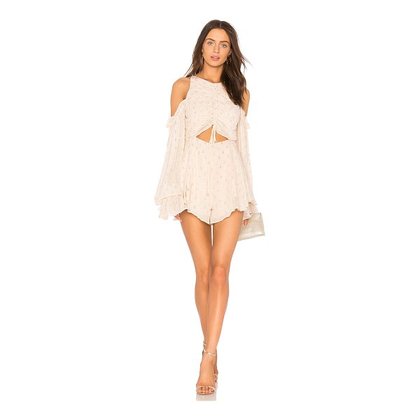 "ALICE MCCALL Did It Again Playsuit - ""Viscose blend. Dry clean only. Shirred front with tie..."