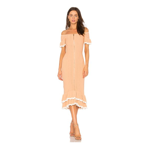 """ALICE MCCALL Just Because Dress - """"Viscose blend. Dry clean only. Unlined. Exposed front..."""